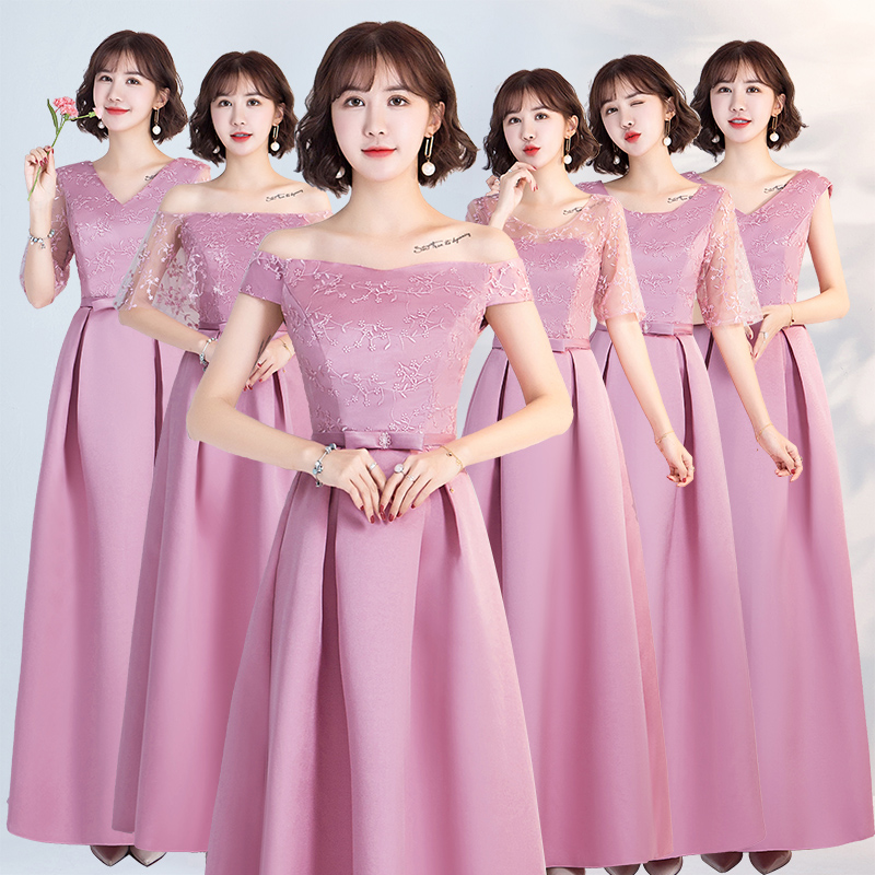 Pink Burgundy Bridesmaid Dresses Elegant Vestido Largo Sirena Long Dress For Wedding Party For Woman Sexy Dress Formal Prom Host
