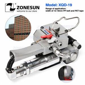 Image 1 - ZONESUN Handheld XQD 19 Pneumatische Tragbare Umreifung Werkzeug PP PET Palette Gürtel Band Spanner und Sealer Box Karton Maschine