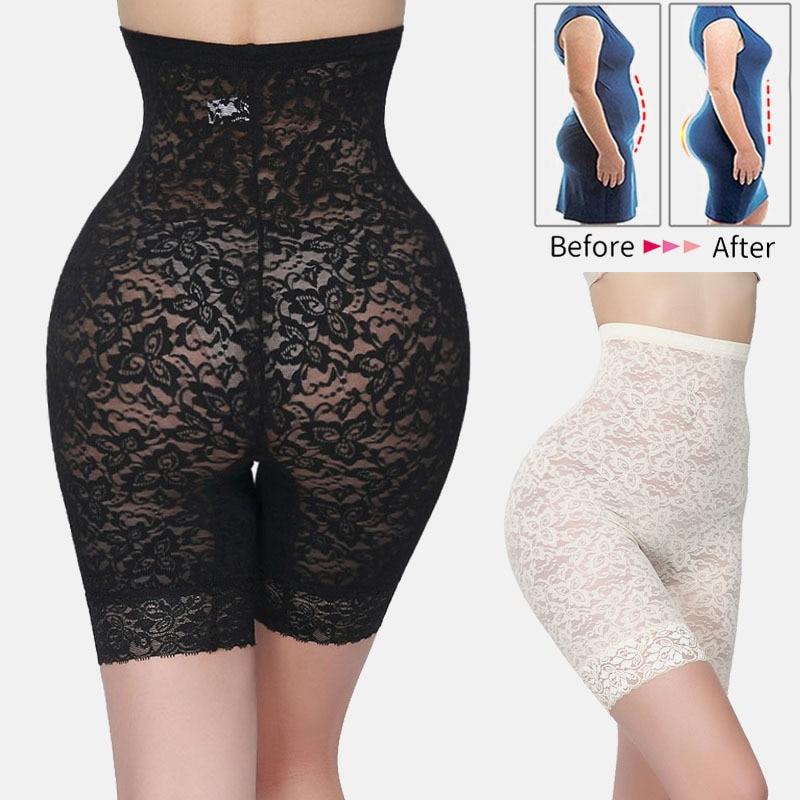 Fashion Womens High Women Waist Trainer Shapers Shapewear Lace Panty Slim Tummy Underwear For Body Shaping Hot Vucut Kontrol
