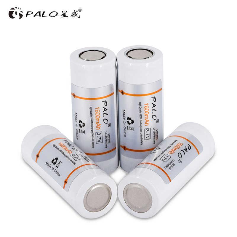 PALO 18500 3,7 V аккумуляторная батарея 3,7 v батареи литий-ионная литиевая батарея фонарик, фара, электронная сигарета