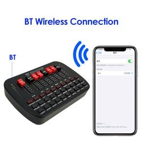 Image 4 - Bluetooth קריוקי קונסולת 20 אפקטים קוליים שידור KTV לחיות נפח מתכוונן חיצוני אודיו מיקסר כרטיס קול סטודיו