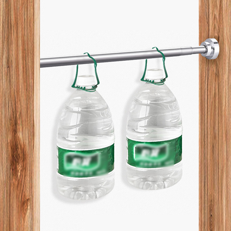Multifunction Extendable Stainless Steel Non-slip Shower Curtain Rod Home Window Pole Wardrobe Clothes Hanger