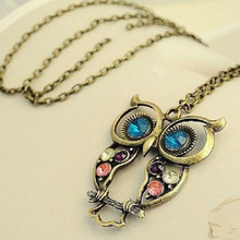 Hollow Cute Owl Pendant Necklace Retro Carved Chain Bohemian Necklace Choker for Women Fashion Jewelry Party Gifts 2019 WD560