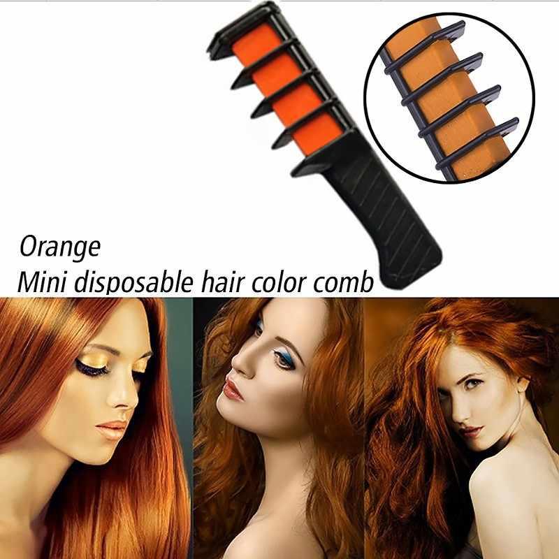 Temporaire cheveux Pro Mini craies Crayons 6 couleurs pour pour cheveux multicolore couleur colorant cheveux teinture peigne soins des cheveux outils de coiffure peigne à cheveux