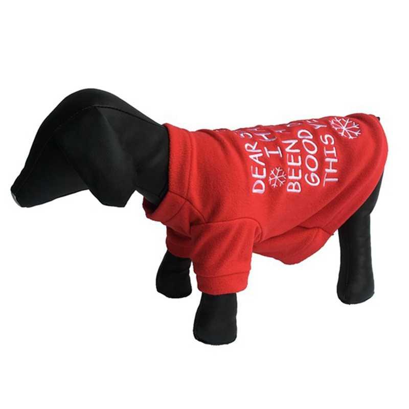 Rot Hunde Jacke Mantel Teddy Brief Schneeflocke Muster Hund Pullover Modische Hund Kleidung Sport Welpen Haustier Weihnachten Outfits