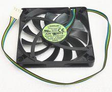 Ventilateur 8010, petit meuble intégré fin, 8CM, 4 fils R128010SU, avec Dissipation thermique pwm, refroidisseur