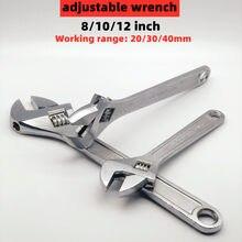 1 pçs chave ajustável 8 polegada anti-ferrugem tratamento grande abertura torque grande chave ferramenta chave grande universal pequenas ferramentas