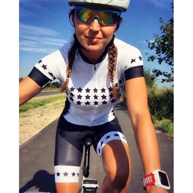 20-kafitt-19d-gel almofada ciclismo mulher triathlon ciclismo camisa de uma peça vestido pequeno macaco manga curta terno competição novo 3