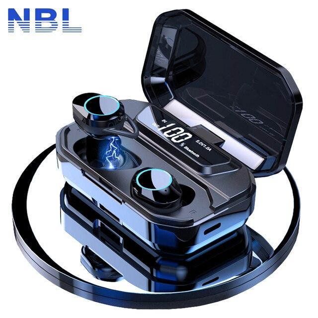 TWS 5.0 Bluetooth 9D słuchawki stereo bezprzewodowe słuchawki IPX7 słuchawki wodoodporne 3300mAh LED inteligentny power bank uchwyt na telefon