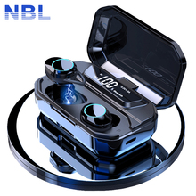 TWS 5.0 Bluetooth 9D stéréo écouteur sans fil écouteurs IPX7 étanche écouteurs 3300mAh LED batterie externe intelligente support pour téléphone