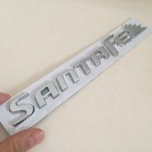 1 шт. 3D ABS SANTAFE SANTA FE значок для заднего багажника автомобиля наклейка с логотипом переводки автостайлинг автомобильные аксессуары