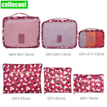 6 PCS Travel Storage Bag luggage travel bags Case Shoes Packing Cube Set  Clothes Tidy Organizer Suitcase Pouch