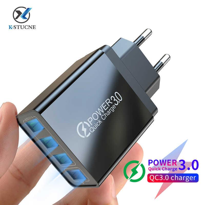 Cargador USB KSTUCNE 3A de carga rápida 48W, cargador de teléfono para iPhone XS 11 Pro Max Xiaomi Huawei P20 Lite Samsung s9 S8, Cargador rápido
