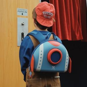 Image 5 - NOHOO Mochila para niños pequeños, morral escolar con diseño de cohete en 3D de dibujos animados, para guardería