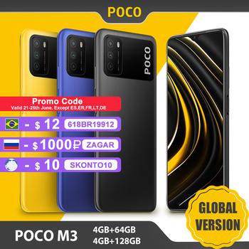 Globalna wersja POCO M3 4GB 64GB 128GB Smartphone Snapdragon 662 Octa Core 48MP potrójna kamera 6 53 #8222 FHD + ekran 6000mAh bateria tanie i dobre opinie Niewymienna CN (pochodzenie) Android Zamontowane z boku Quick Charge 3 0 english Rosyjski Niemieckie French Spanish POLISH