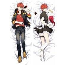 Anime Game Mystic Messenger 707 Jumin Zen pillow Covers Cool boys 3D Two Side Bedding Hugging