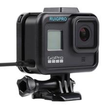 Per GoPro Accessori GoPro Hero 8 Telaio di Protezione Caso Videocamera Custodia Per GoPro Macchina Fotografica di Azione di Hero8 Nero