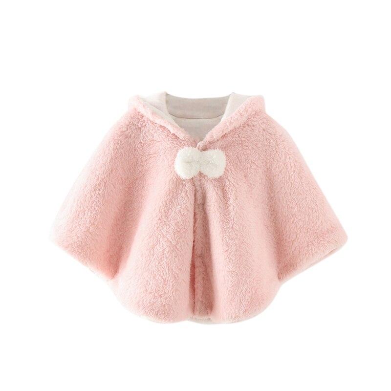 Милая осенняя одежда для новорожденных девочек; пальто с капюшоном и рисунком; плащ; двухслойная куртка; милый зимний комбинезон; верхняя одежда - Цвет: Розовый
