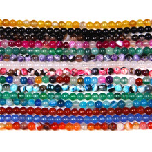Perles d'agates naturelles de petite taille, 4mm, vente en gros, rondes, jaunes, bleues, pour la fabrication de bijoux, accessoires de perles