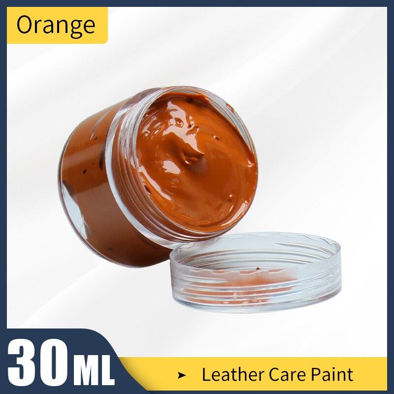 30 мл оранжево красная краска для окрашивания кожаных сумок диванов обуви и