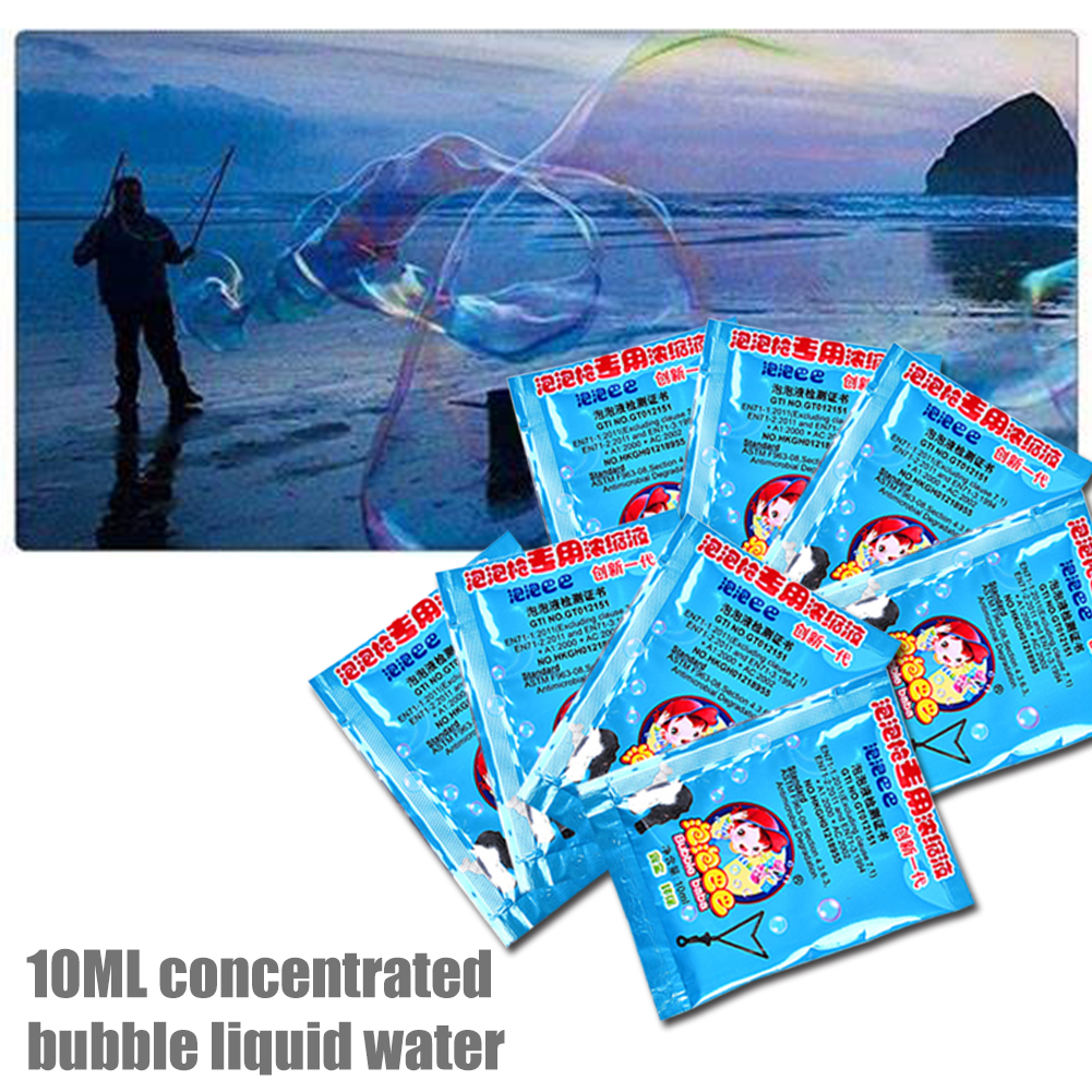 10pack Educational Toy Blowing Concentrate Bubbles Liquid Baby Wedding Indoor Outdoor For Kids Refills Interactive Non Toxic