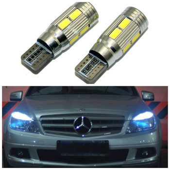 2x T10 LED W5W Car LED Auto Lamp 12V Clearance Parking Light bulbs with Projector Lens for Mercedes-Benz w203 GLK R ML W204 C E image