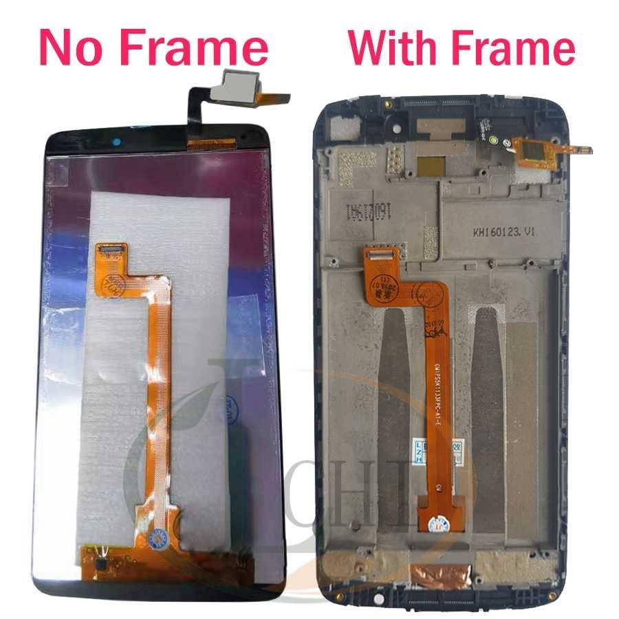 """Orijinal 5.5 """"LCD dokunmatik ekran digitizer Alcatel One Touch Idol 3 için LCD çerçeve ile 6045 6045Y 6045O ekran yedek parçalar"""