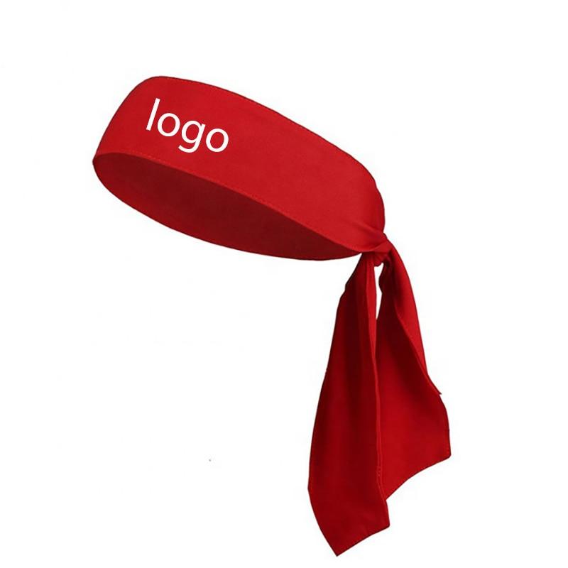 Wholesale Custom Printed Logo Head Tie Up Sports Headbands Spa Head Wrap Headband For Cleaning Face