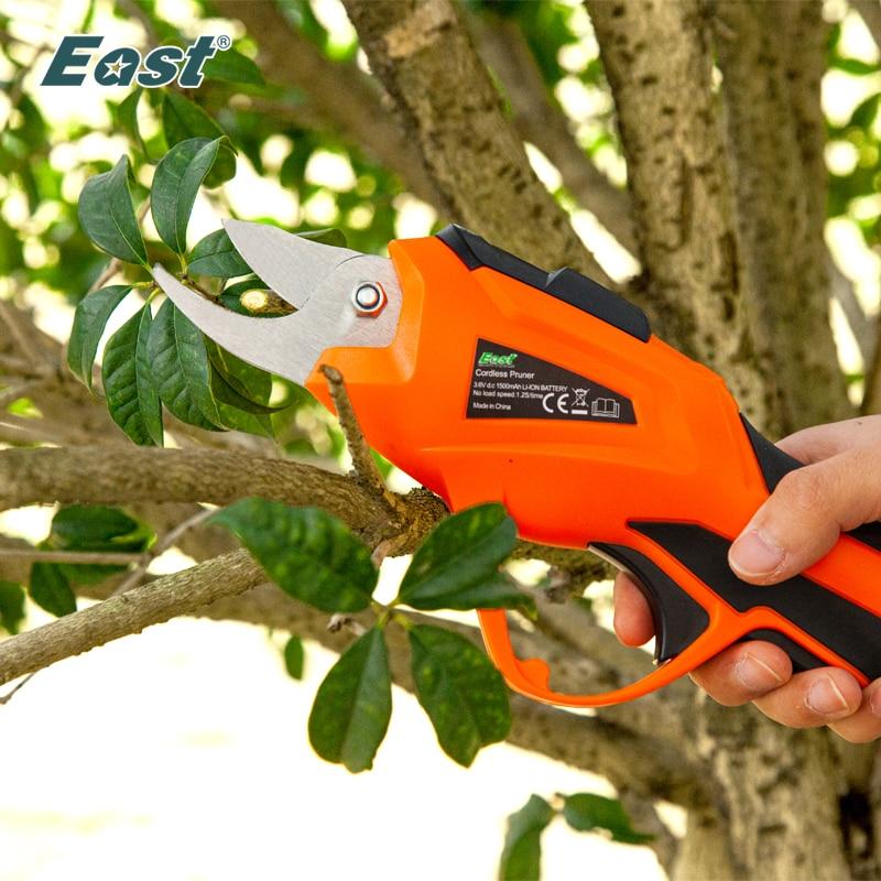 EAST Electric Pruner 3.6V Li-ion Cordless Electric Pruning Shears Secateur Branch Cutter Fruit Pruning Garden Power Tool ET1505