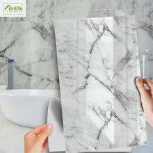 Funlife[R] NOUVELLE MAISON série [TM] 30x60cm grec Jazz blanc marbre étanche carrelage autocollant pour sol cuisine salle de bain décor