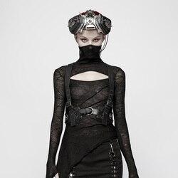 Женский панк-жилет PUNKRAVE, аксессуары из искусственной кожи PU, красивые аксессуары для сцены, Хэллоуина