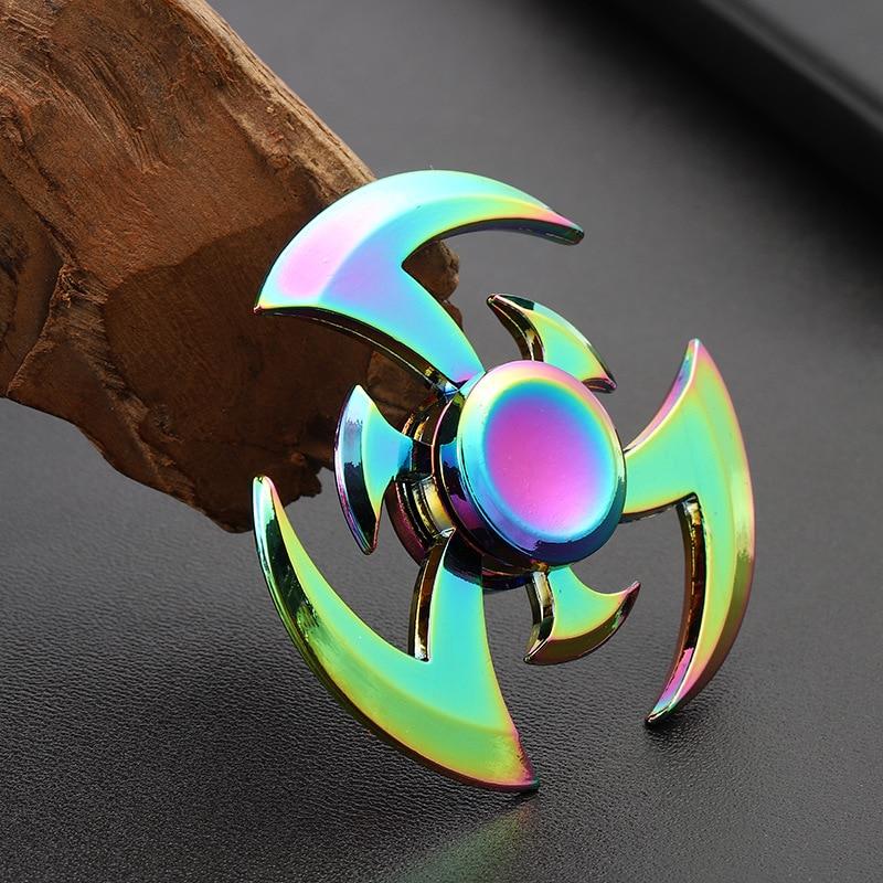 Rainbow Hand Fidget Spinner Stress Zinc Metal Alloy EDC High Speed Focus toy