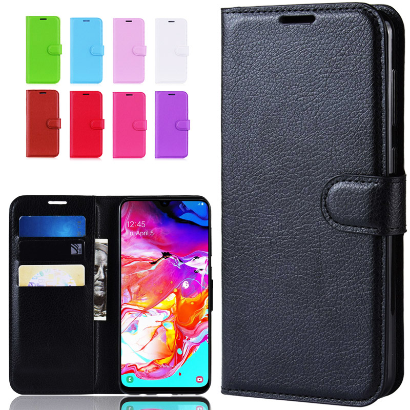 Luxury Leather Case For Samsung Galaxy A70 Phone Case 2019 Cover Back Coque Flip Wallet Case For Samsung A70 A705 A705F Cover image