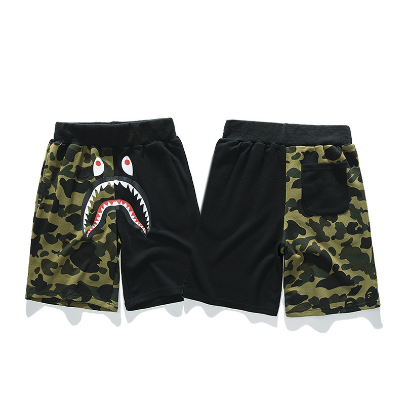 2019 Camo Color Matching Cotton Terry Men's And Youth Casual Shorts Pants Christmas  Hip Hop Shorts