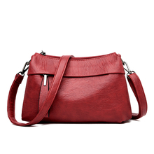 2019 Women Leather Messenger Bags Vintage Sac A Main Crossbody Bag For