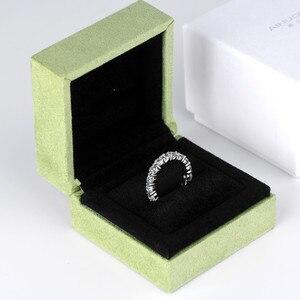 Image 4 - 925スターリングシルバー4ミリメートルラウンドカットフル永遠リング結婚記念日リング女性のための