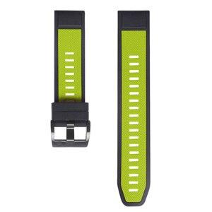 Image 3 - 26 22Mm Quickfit Horloge Band Strap Voor Garmin Fenix 6 6X Pro Siliconen Easyfit Polsband Fenix 5X Plus 3HR Smart Accessoires