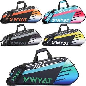 Raquete de badminton mochila cabeça saco de raquete de tênis treinamento esportivo kitbag tennisbag saco de raquete de fitness náilon