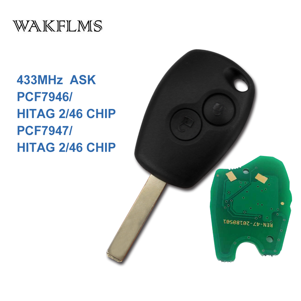 PCF7946A / PCF7947A VA2 дистанционный ключ-брелок от машины для Renault Wind Clio модус Kangoo Master Twingo 2004 2005 2006 - 2013 2014 2015 2016