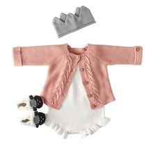 Baby Clothes Romper Cotton Knitted Infant Jumpsuit Autumn Baby Set With Coat Toddler Clothing For Girls Long Sleeve Kids boys цены онлайн