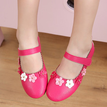 White Pink Rose Little Baby Girls Shoes Kids Princess chaussure fille Childrens Single shoes 1 2 3 4 5 6 7-14T