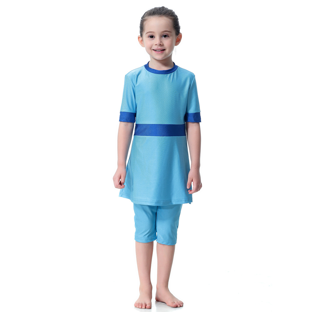 Muslim Hui Girls Swimsuit Conservative Two-Piece Swimming Suit H2004, Hot Selling