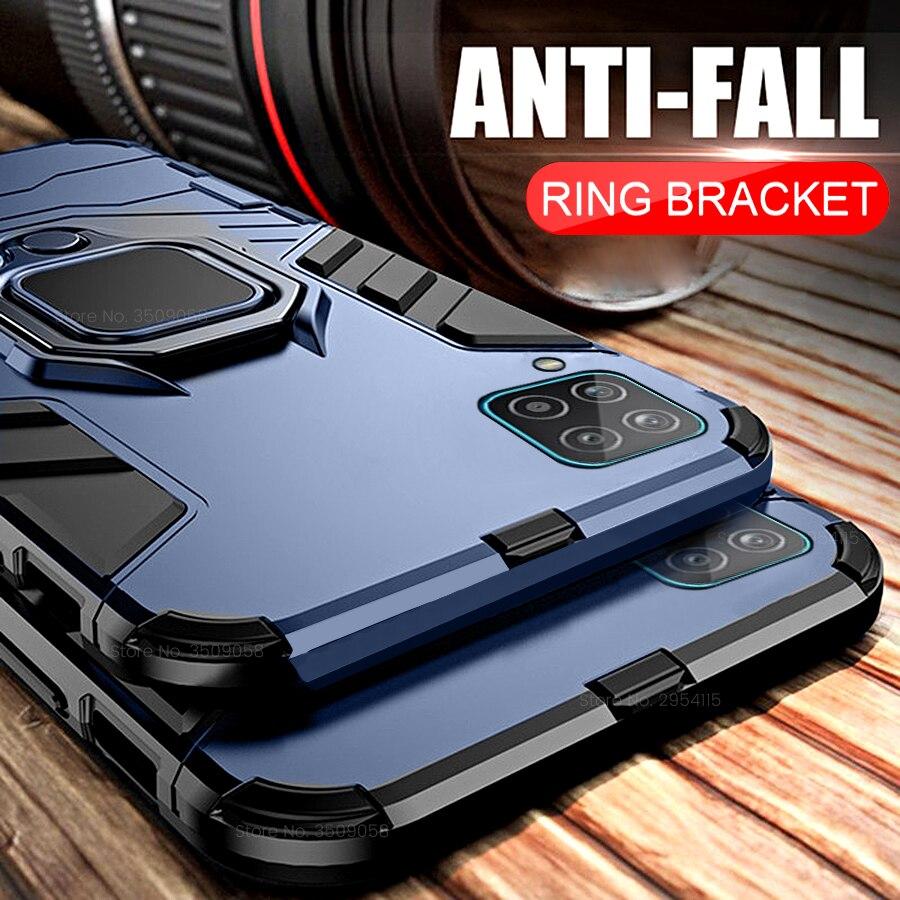 Бронированный противоударный чехол Coque для Samsung Galaxy A12 чехол автомобильный магнитный держатель защитное кольцо Крышка гелакси 12 NFC SM-A125F/DSN 6,5