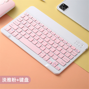 Image 5 - Colorful Russian Spanish Keyboard mouse For Samsung Android Tablet For iPad 9.7 10.5 For samsung tablet Bluetooth mouse Keyboard