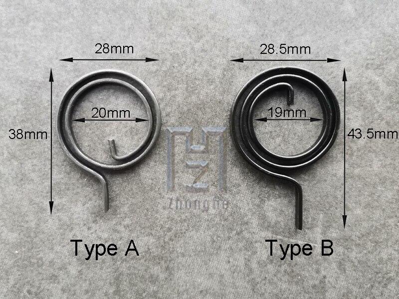 28 мм Плоская проволочная дверная ручка пружинная катушка для двери