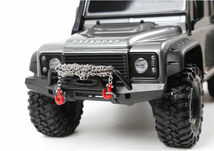 RC araba Metal çekme zinciri römork kanca dekorasyon için 1/10 RC kaya paleti Traxxas TRX4 eksenel SCX10 90046 RC4WD D90 TF2 Tamiya