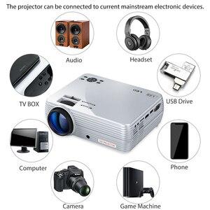 Image 5 - Puissant Mini projecteur X5 + 1280*720P 2800 Lumens 1080P Support 3D Portable projecteur se connecter via port USB HDMI VGA avec TV box PS4