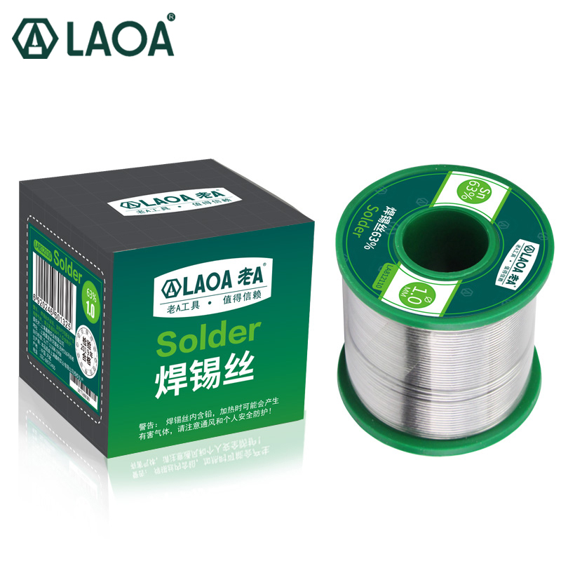 LAOA Tin Wire 63percent No-clean Solder Wick Size  0 5mm 0 8mm 1 0mm 1 2mm 1 5mm 2 0mm 2 3mm Solder Stick