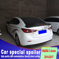 Stop light punching install rear trunk roof wings 3 spoiler for 2014 2015 2016 2017 to up mazda 3 by primer or black white paint|Spoilers & Wings|   -