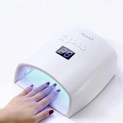 60W Built-in Battery Wireless UV Lamp S10 Gel Nail Polish Dryer Nail Curing Light Cordless LED Nail Lamp